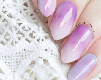 Pink Galaxy Nail Polish Wraps