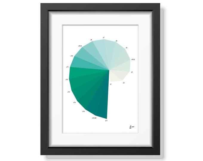 Nautilus 07 [mathematical abstract art print, unframed] A4/A3 sizes