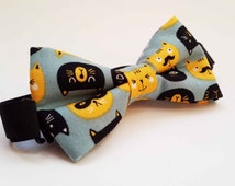 Fox and Cats Kids Bow Tie Boys Bow Tie Cute Bow Tie Pretied Bow Tie Clip-on Bow Baby Bow Tie School Bow Tie