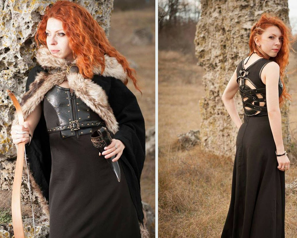 Celtic dress/Viking costume/Viking dress and mantle with