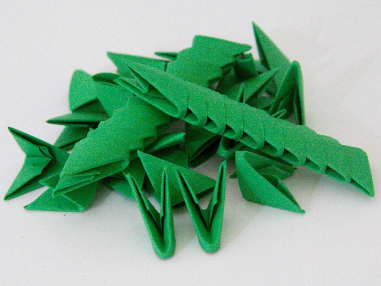 250pcs sapin vert 3d origami papier triangles - Sapin en papier origami ...