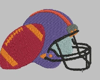 AMERICAN FOOTBALL HELMET and ball embroidery design