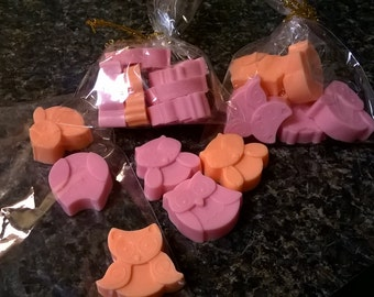 Mini Colorful Shea Butter Owl Soaps 6 Piece Set-Gifts, Baby Shower Favors, and More!