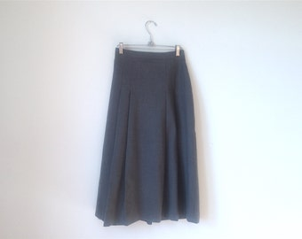 Virgin Wool, Ankle Length Skirt