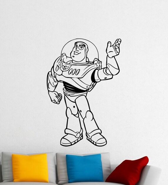Toy Story Wall Light : Buzz Lightyear Toy Story Wall Vinyl Sticker Woody Jessie
