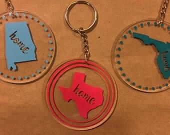 State Love Keychains