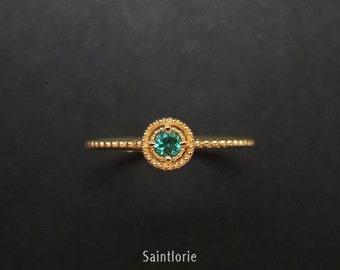 0.1 Carat Emerald Engagement Ring