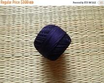 15% OFF Navy Blue Crochet Yarn, Mercerized Cotton Yarn, Knitting Yarn, Embroidery Yarn, Cotton Crochet Yarn - 120 Yards