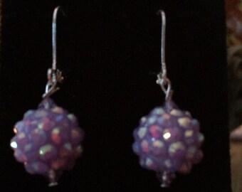Light Purple Disco Earrings