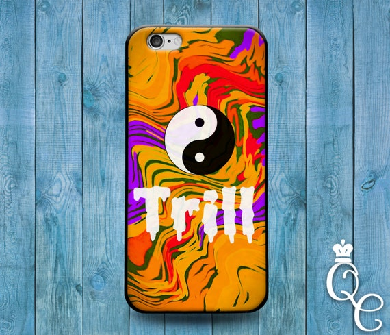iPhone 4 4s 5 5s 5c SE 6 6s 7 plus iPod Touch 4th 5th 6th Gen Fun Cute Yellow Trill Ying Yang Boy Girl Trend Cool Teen Phone Cover Cool Case