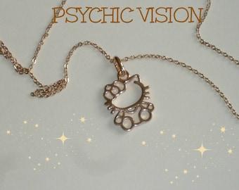 Hello Kitty Necklace/Cat Necklace/Kitten Necklace/Hello Kitty Jewelry/Jewellery/Jewelry/Kitten Jewelry/Hello Kitty