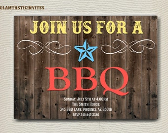 BBQ Invitation, BBQ Party Invitation, Party Invitation, Picnic Invitation, BBQ Picnic Invitation, Bbq, I Do Bbq, Invitation, Summer Invite
