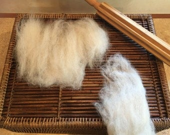 Felters Special- Natural White Heather Alpaca Roving (R1)