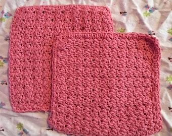 pink dish cloth duo