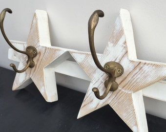Wooden Reclaimed  Star Coat Rack