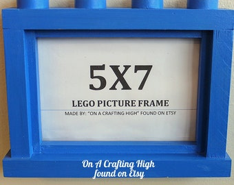 5X7 Lego Inspired Picture Frame