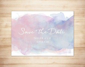 Digital Watercolor Save the Date