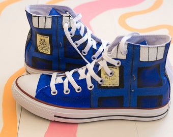Custom Converse - Dr Who, TARDIS