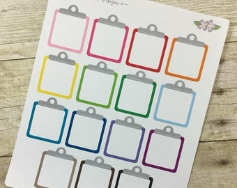 Blank Colorful Cliboard Life Planner Stickers