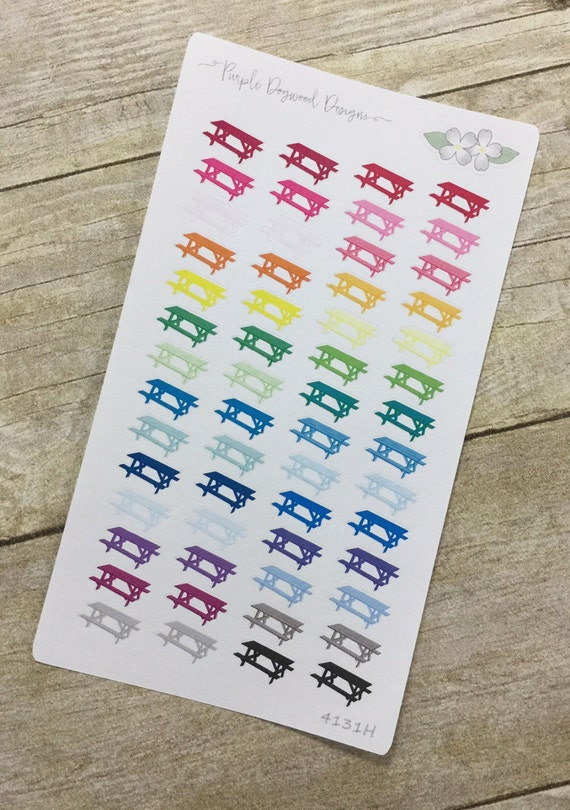 Picnic table planner stickers half page 4131h from for Half page sticker labels
