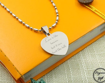 Heart Necklace Actual Handwriting Jewelry - With your Personalized Signature - Signature Jewelry - Valentine gift, Couple's gift