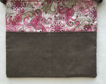 Planner Carryall Bag (Grey/Pink/Paisley)