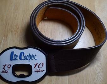 Lee Cooper belt buckle -bottleopener with pu belt. Size L. Used ,good condition