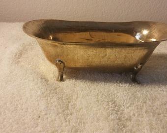 Brass Claw foot Miniature Tub