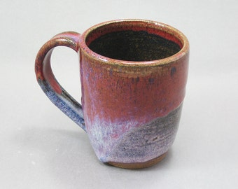 Pottery Coffee Mug Red & Lipstick Purple REDLP17