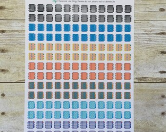 Plan to Plan 168 Stickers Planner Books Half Inch 7 Assorted Designs on One Sheet F92