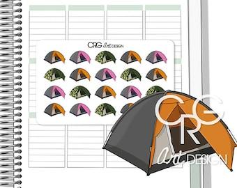 C&ing Tent Stickers | Planner Erin Condren Plum Planner Filofax Sticker  sc 1 st  Etsy & Tent stickers | Etsy