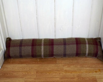 Handmade Balmoral Heather Highland Check Tweed Country Door Draft Excluder Draft Stopper