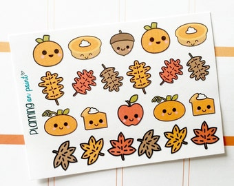 Kawaii Fall October Planner Stickers!