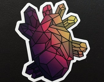 Geometric Heart #2 Vinyl Sticker