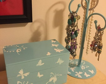 Ocean Breeze jewellery Box and stand
