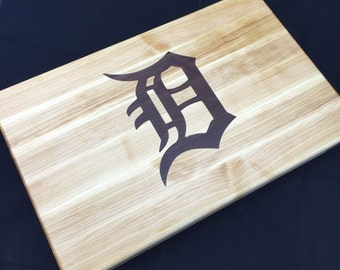 Detroit Tigers Handmade Maple and Walnut Cutting Board