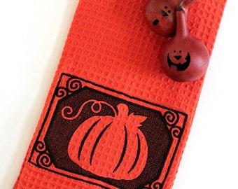 Embossed Pumpkin Kitchen Towel