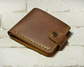 Free shipping Vintage leather wallet woman leather wallet man handmade wallet leather purse rustic wallet for man and woman Handmade