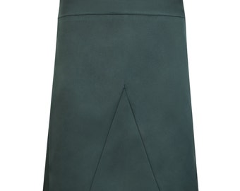 Royal green A-line skirt