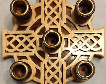 Celtic Advent Wreath - Maple & Walnut