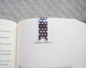 Metallic gold dot magnetic banner bookmark, planner bookmark, book clip, page marker, paper clip, washi bookmark, small bookmark