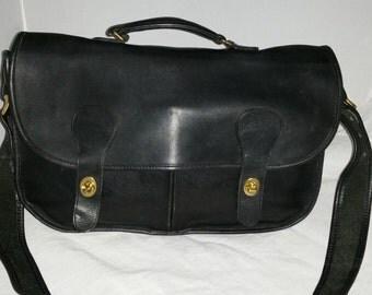 Authentic Vintage Coach Musette Brief Collectors Field Bag Black