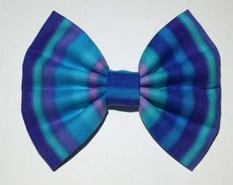 Stripe Hair Bow