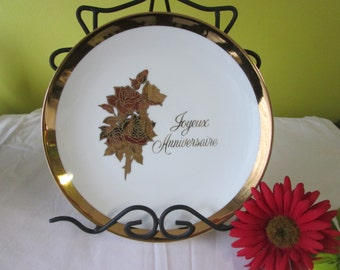 Vintage plate happy birthday / Vintage Plate Happy birthday