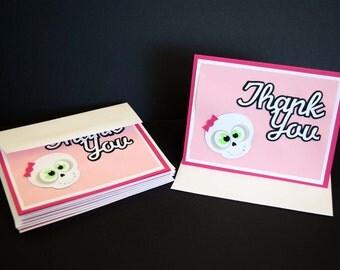 Rock Princess Thank You Cards