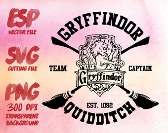 Gryffindor Quidditch Clipart , SVG Cutting , ESP Vectors files , T shirt , iron on , sticker ,Personal Use