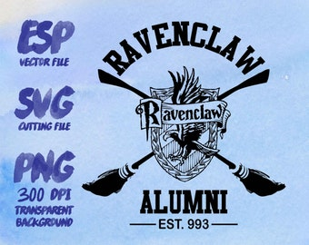 Ravenclaw Alumni Clipart , SVG Cutting , ESP Vectors files , T shirt , iron on , sticker ,Personal Use
