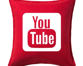 Youtube pillow cover, Custom Canvas pillow cover, Youtube pillow cover, Social media pillow cover, Youtube Pillow cover,