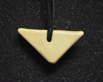 Light Wooden Necklace Pendant