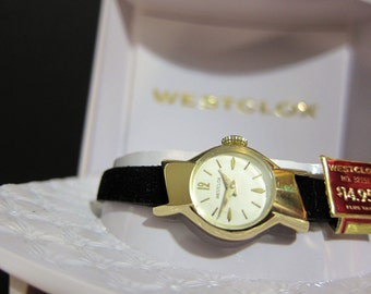 Westclox Ladies Mechanical Wrist Watch Ballet Line  Model 741 NOS 1960s